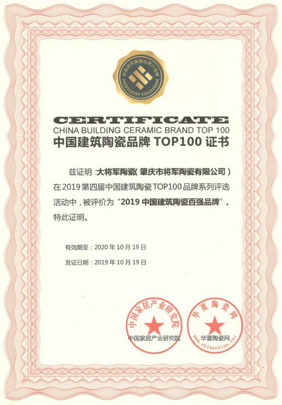 2019--中国建筑bwinchina注册地址TOP100品牌